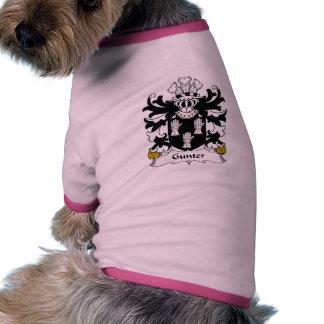 Gunter Family Crest Pet Tee Shirt