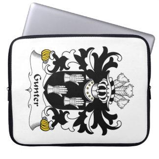 Gunter Family Crest Computer Sleeve