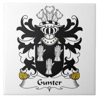 Gunter Family Crest Large Square Tile
