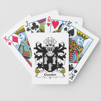 Gunter Family Crest Playing Cards