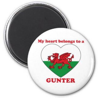 Gunter 6 Cm Round Magnet