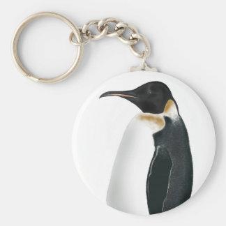 Gunter the Penguin Basic Round Button Key Ring