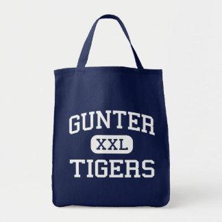 Gunter - Tigers - High School - Gunter Texas Grocery Tote Bag