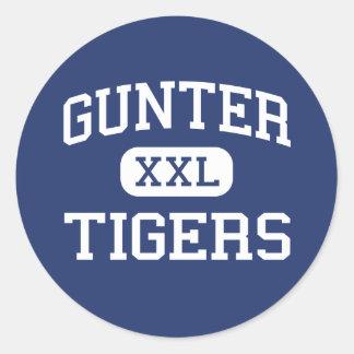 Gunter - Tigers - High School - Gunter Texas Classic Round Sticker
