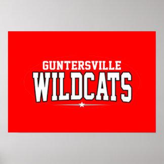 Guntersville High School; Wildcats Poster