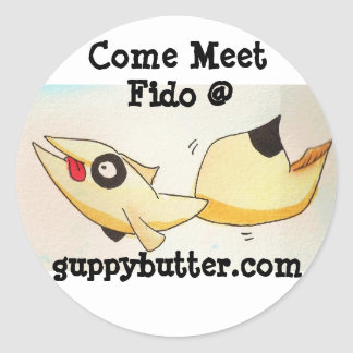 Guppy Butter Come Meet Fido Sticker