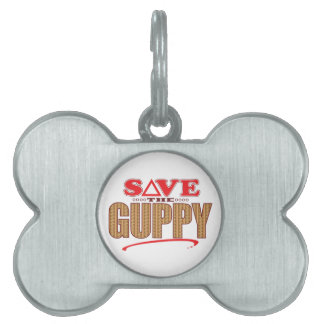 Guppy Save Pet ID Tag
