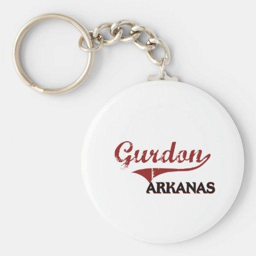Gurdon Arkansas City Classic Basic Round Button Key Ring