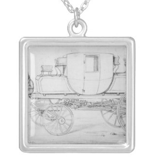 Gurney's Steam Carriage, 1827 Silver Plated Necklace