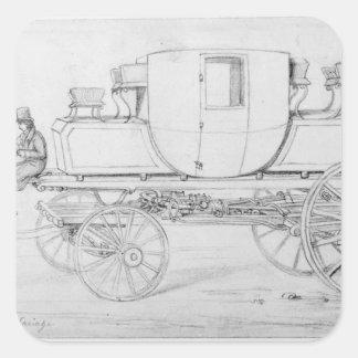 Gurney's Steam Carriage, 1827 Square Sticker