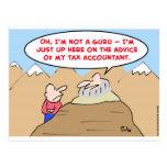 guru advice tax accountant post card