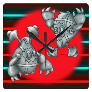 GURU AND RUGU ROBOTS Round Large Wall Clock