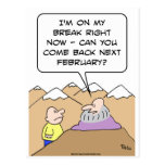 guru breack come back february post cards
