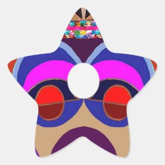 GURU or Great Masters  - 3rd EYE Open Star Sticker
