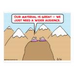 guru wider audience postcards