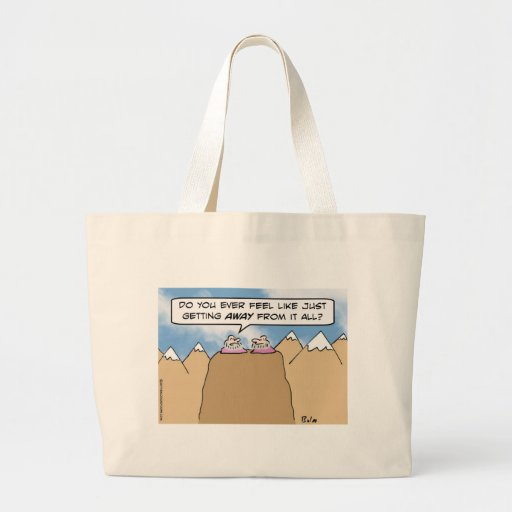 gurus getting away from it all canvas bag