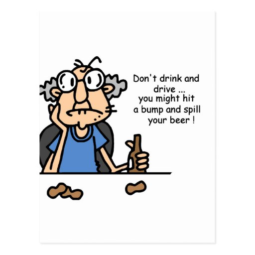 Gus on Drinking and Driving Postcard