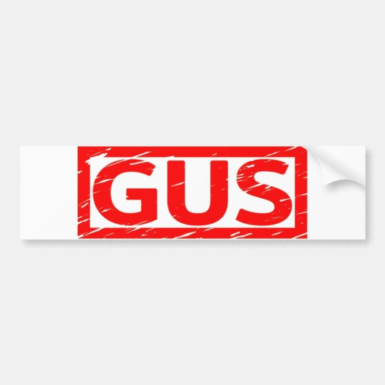 Gus Stamp Bumper Sticker