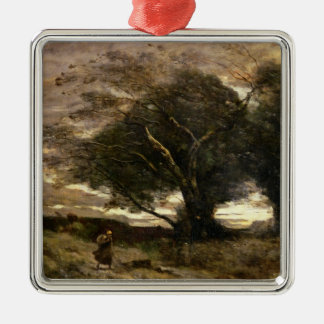 Gust of Wind, 1866 Silver-Colored Square Decoration