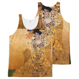 Gustav Klimt, 1907 Portrait of Adel Bloch Bauer All-Over Print Tank Top