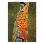 Gustav Klimt Abandoned Hope Greeting Cards