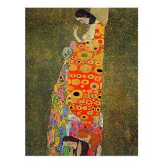 Gustav Klimt Abandoned Hope Postcard