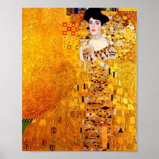 Gustav Klimt Adele Bloch-Bauer Vintage Art Nouveau Poster