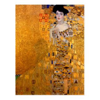 "Gustav Klimt ""Adele"" Portrait Vintage Postcard"