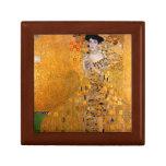 "Gustav Klimt ""Adele"" Vintage Small Square Gift Box"