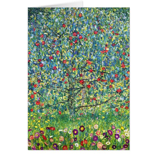 Gustav Klimt: Apple Tree Card