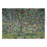 Gustav Klimt Apple Tree Note Card