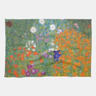 Gustav Klimt // Bauerngarten // Farm Garden Tea Towel