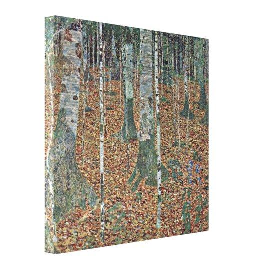 Gustav Klimt - birch Canvas Print