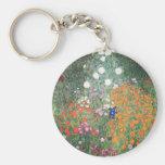 Gustav Klimt Blumengarten Key Chain