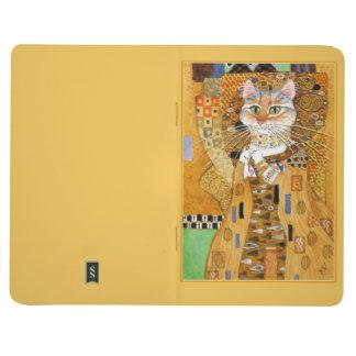 Gustav Klimt Cat in Gold spoof journal