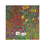 Gustav Klimt Farm Garden with Sunflowers Canvas Stretched Canvas Prints