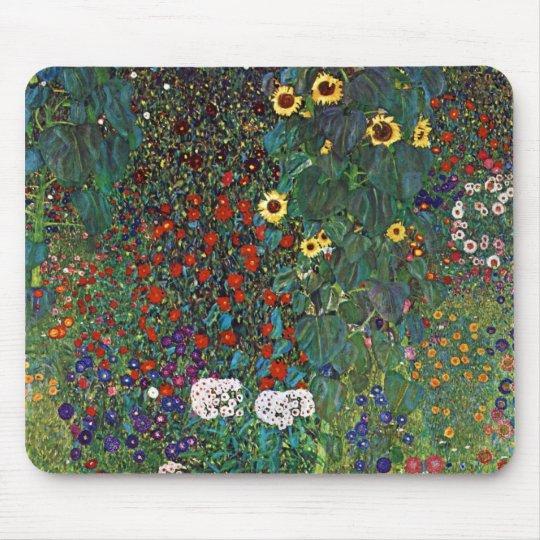 Gustav Klimt Farm Garden with Sunflowers Mouse Mat