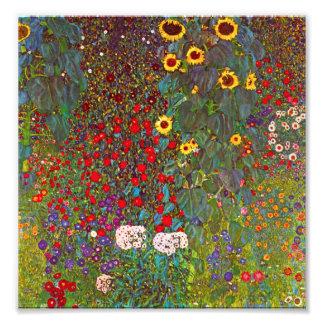 Gustav Klimt Farm Garden with Sunflowers Print Photograph