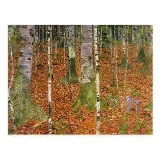 Gustav Klimt- Farmhouse with Birch Trees Postcard