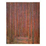 Gustav Klimt Fir Forest Tannenwald Red Trees Poster