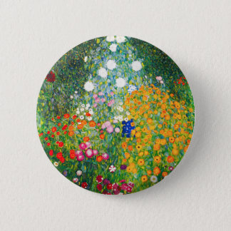 Gustav Klimt Flower Garden Button