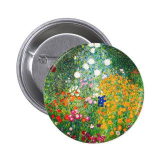 Gustav Klimt Flower Garden Button