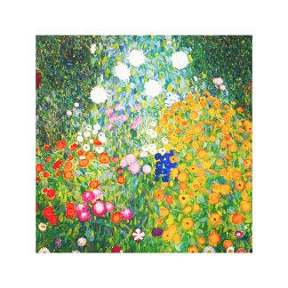 Gustav Klimt Flower Garden Canvas Poster Canvas Print
