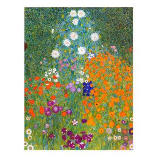 Gustav Klimt Flower Garden Postcards