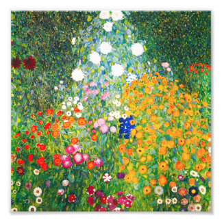 Gustav Klimt Flower Garden Print Photo