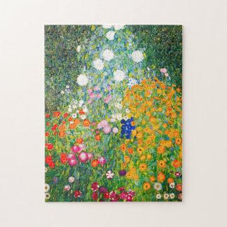Gustav Klimt Flower Garden Puzzle