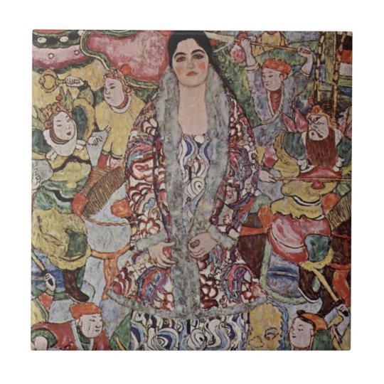 Gustav Klimt Fredericke Maria Beer Tile
