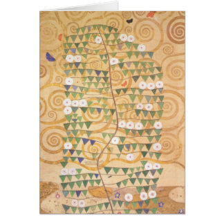 Gustav Klimt Frieze Tree of Life Note Card