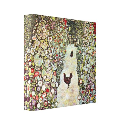 Gustav Klimt - Garden Path with Chickens Gallery Wrapped Canvas