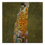 Gustav Klimt Hope 2 Oil, Gold & Platinum on Canvas Poster